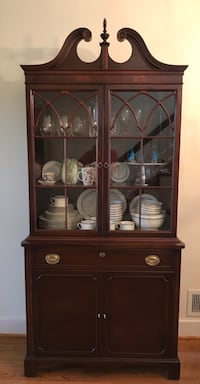 Antique Mahogany China Cabinet Washington, 20002