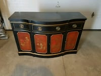 """Antique buffet, 4'3"""" long. Very good condition, oriental style."""
