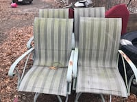 Five outdoors chairs just need paint Barnstable, 02601