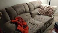 Gray microsuede couch