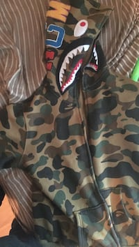Camouflage bathing ape zip-up hoodie