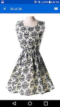 women's black and white floral sleeveless dress Montreal, H8T