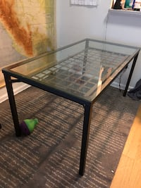 Glass top dining table with 4 chairs Arlington