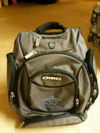 black and gray leather backpack Alexandria, 22310