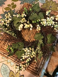 green and brown wreath