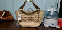 brown monogrammed Michael Kors leather shoulder bag East Riverdale, 20737
