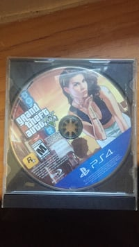 Sony ps4 grand theft auto five game disc Kitchener, N2E