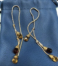 Delicate garnet earrings Washington, 20016