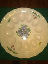 Fancy deviled egg serving plate