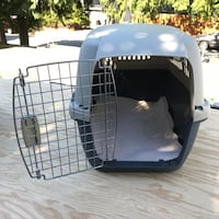 white and black pet carrier Vancouver, V6E