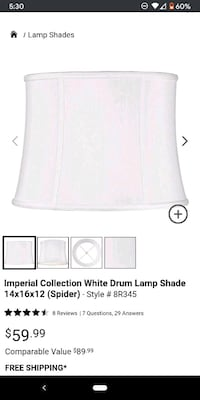 Imperial connection white drum lampshade