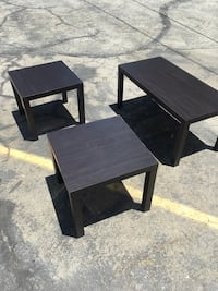 two square black wooden side tables Los Angeles, 91406