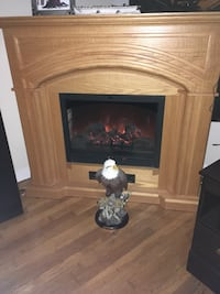 brown and black electric fireplace Halifax, B3M 1C4