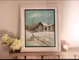 Real Painting, Snow Landscape