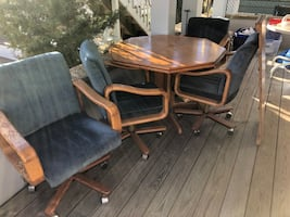 very beautiful kitchen table and four chairs
