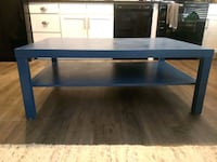 Blue Wooden Coffee Table Columbus