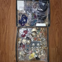Vintage Clip Earrings & Necklaces & Pins-Mostly brand new & in packages!  Maple Ridge