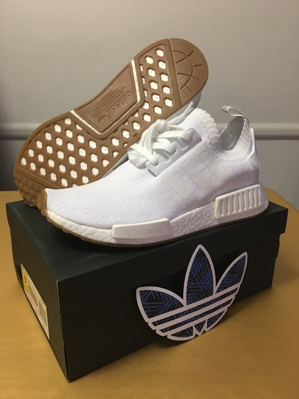 6bb80db808724 Used NMD R1 Primeknit White Gum Bottom Sole Adidas Mens Size  US 9 for sale  in Los Angeles - letgo