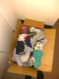 Box of baby boy clothes  Winnipeg, R2W 2M8