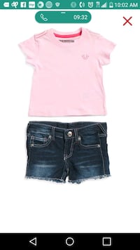 pink and black denim True Religion shorts Washington, 20019