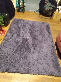 Plush blue shag rug