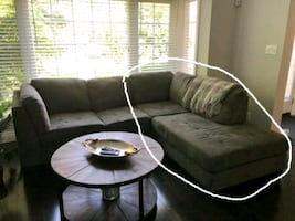 Right portion of large grey sectional