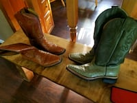 pair of brown leather cowboy boots Brighton, 80601