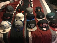 lot of assorted fitted caps