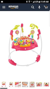 Fisher Price pink petals jump-a-roo