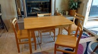 Solid wood table and chairs LASVEGAS