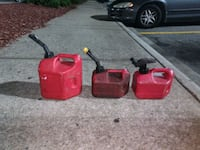 Three gas cans Raleigh, 27610