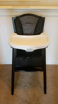 Eddie Bauer white and brown wooden high chair Virginia Beach, 23456