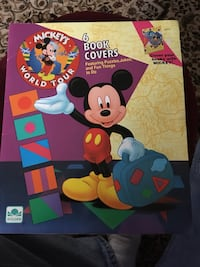 1991, mickey's world tour book covers Wyoming, 49509