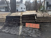 """Free Pallets and 4: 4""""x4""""x8' Pressure treated beams Manchester, 03109"""