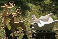 Deer and Sleigh null