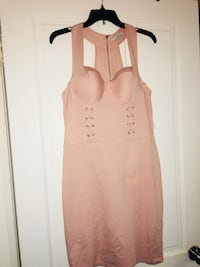 Brand new baby pink size XL bodycon Dress tags still attached