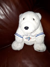 "VINTAGE COCA COLA Polar Bear TORONTO BLUE JAYS PLUSH 10""in 1990""s Montréal"