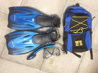 Teen snorkels goggles and fins set Whitchurch-Stouffville, L4A 2C9