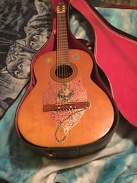 70's Decca classical guitar, hand painted by the artist Thunder.