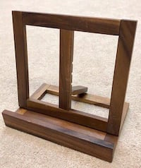 Wooden Cookbook or iPad Stand - Adjustable