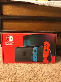 Nintendo Switch Console Neon Blue Neon Red Joycons