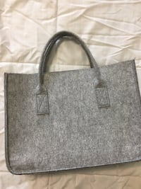 gray and black leather tote bag Reston, 20190