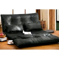 Leather Foldable Floor Sofa/Bed with Two Pillows 1 Toronto, M1P 1E5