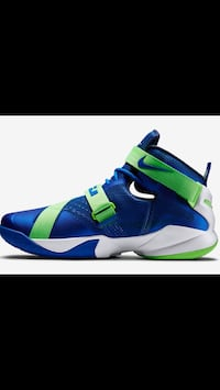 unpaired blue and green Nike basketball shoe screenshot Edmonton, T6H