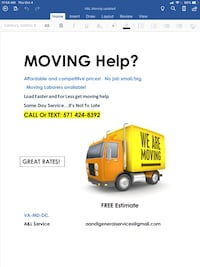 Local moving Arlington, 22205
