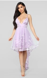 Purple highlow formal dress
