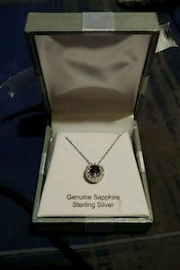 Sterling Silver and Sapphire Necklace Afton, 37616