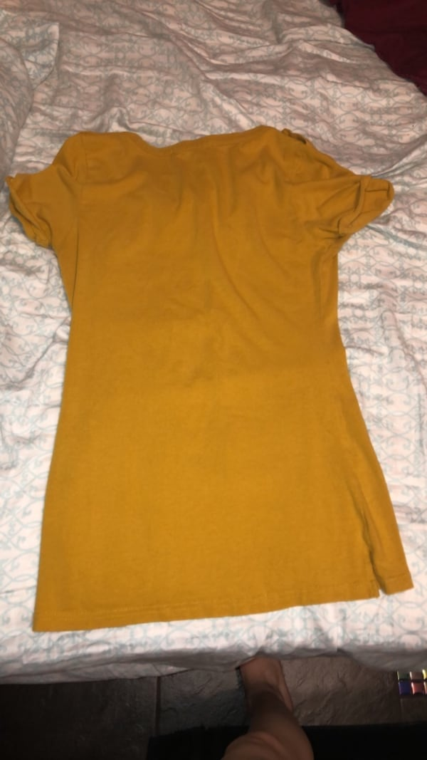 Yellow Form Fitting Shirt 1