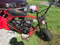 black and red snow blower