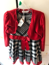 Christmas Dress with detachable sweater, size 4T Chantilly, 20152
